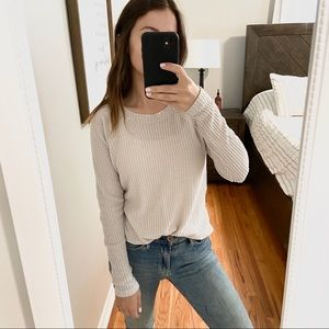 American Eagle beige soft & sexy plush long sleeve